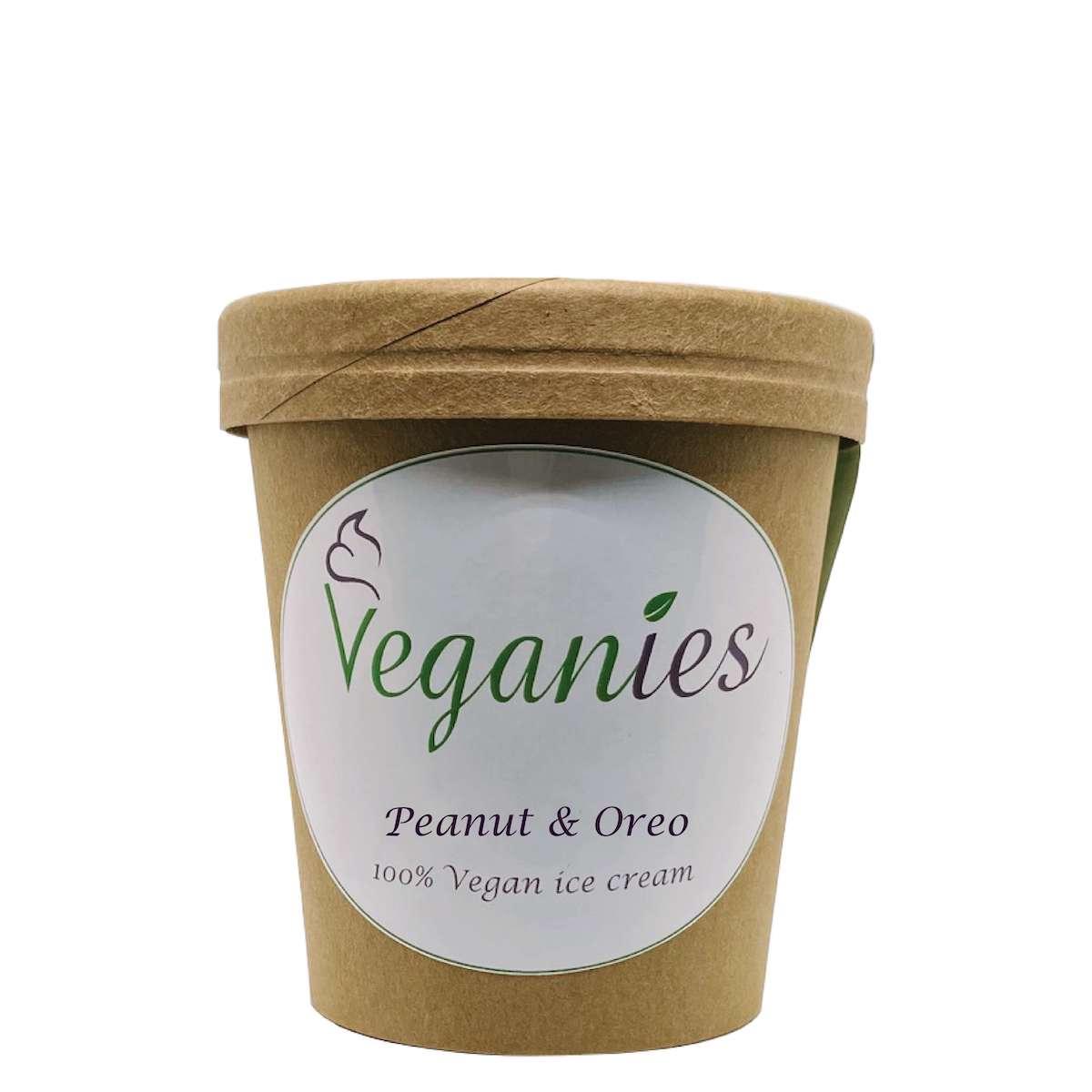 Vegan ijs Peanut & Oreo
